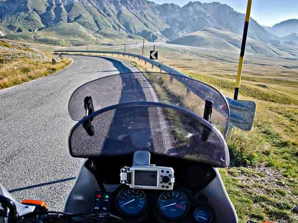 Motorrad Navi im Einsatz
